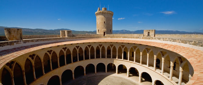 Terraza del castillo de Bellver