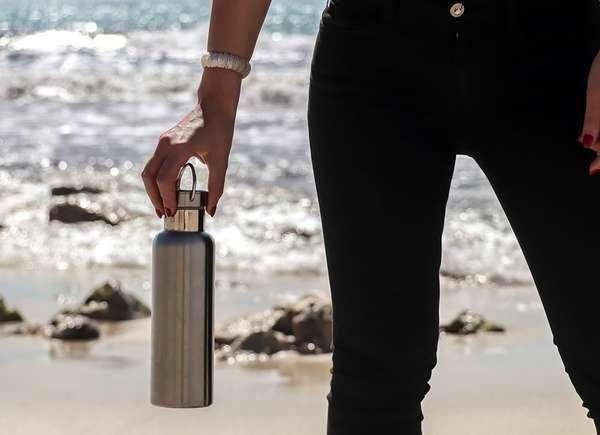 Hábitos conscientes botella reutilizable